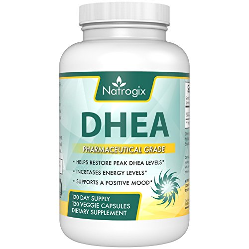 DHEA 60 mg Supplement by Natrogix - Non-GMO 120 Veggie Capsules - Helps Balance Hormone Levels & Boost Youthful Energy Levels For Men & Women - Increases Metabolism, Immunity & - Growth Capsules 120 Hormone Natural