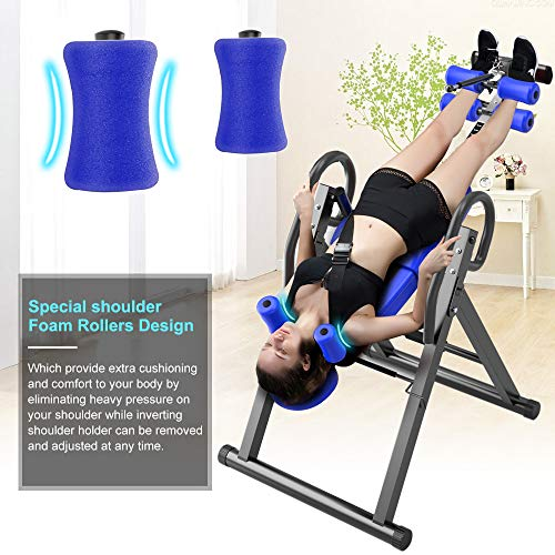 Yoleo Gravity Heavy Duty Inversion Table with Adjustable Headrest & Protective Belt (Blue) by Yoleo (Image #3)