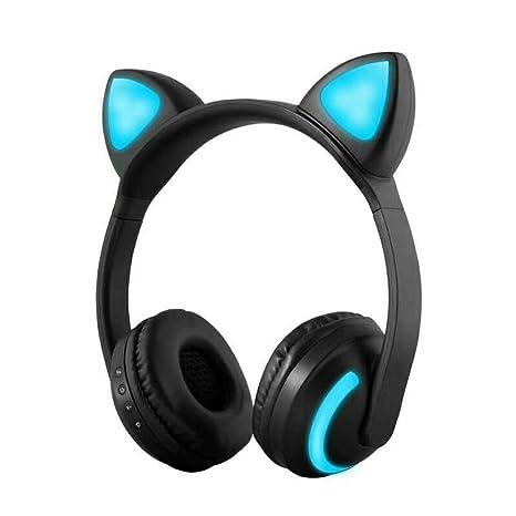 Docooler ZW-19 Auriculares Bluetooth Inalámbricos Glowing Cat Audífonos Auriculares de Música Estéreo Manos Libres