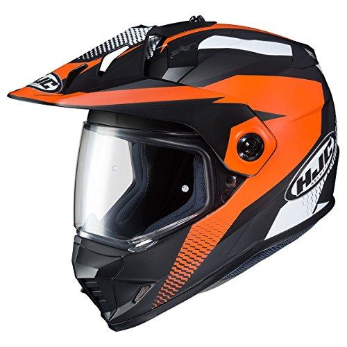 Riders Dual Sport (HJC DS-X1 Dual-Sport Helmet - Awing (MEDIUM) (BLACK/ORANGE))