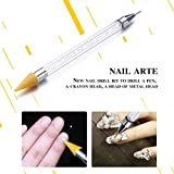 zap dryer - LtrottedJ 1Nail Art Dotting Pen ,Acrylic Rhinestone Crystal Tools Set Painting 2 Way Brush