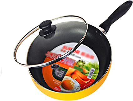 Sartén antiadherente de aluminio, olla para freír wok de ...