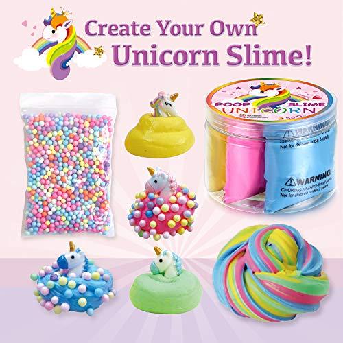 LittleBoo Unicorn Gift Set - Unicorn Squishy, Unicorn Slime, Unicorn Drawstring Backpack, Unicorn Card - Unicorn Gifts for Girls (Cream Cake Unicorn Squishy) by LittleBoo (Image #2)