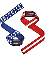 DMoose Fitness Weight Lifting Straps for Men and Women, Premium Neoprene Padded Lifting Wrist Straps with Max Grip Strength for Weightlifting, Deadlifting, Powerlifting and Barbell Stability