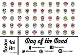 Day of the Dead Waterslide Nail Decals - 50pc