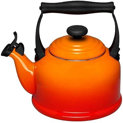 Le Creuset Traditional Kettle 2.1 Litre Volcanic Orange
