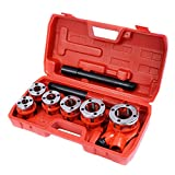 GOFLAME Ratchet Pipe Threader Kit Set Portable W/6
