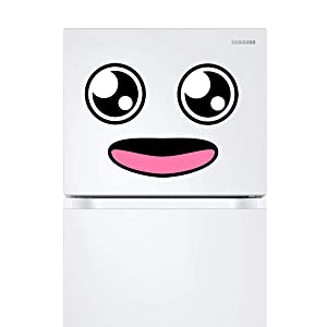Kawaii Refrigerator Magnet (style B) – Smiley Face Fridge Magnets – Appliance Magnetic Decals – Funny Emoji Decorations for Kids – Ideal for Office, Home, Kids' Room