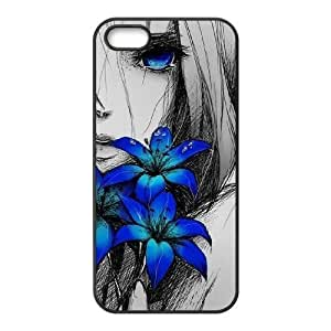 Customized Durable Case for Iphone 5,5S, Art Design Of Girl Phone Case-R674182 by lolosakes
