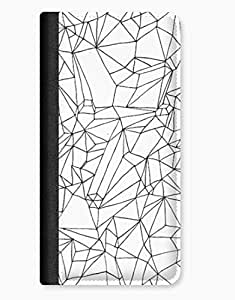 Black & White Shapes Pattern iPhone 5c Leather Flip Case