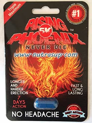 Rising Phoenix 5K Triple Maximum Male Enhancement Sexual 6 Pills