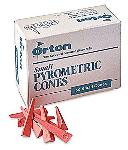 Pyrometric Cones For Monitoring Ceramic Kiln Firings-Cone 04 (1 Pkg/50) by Orton Cones