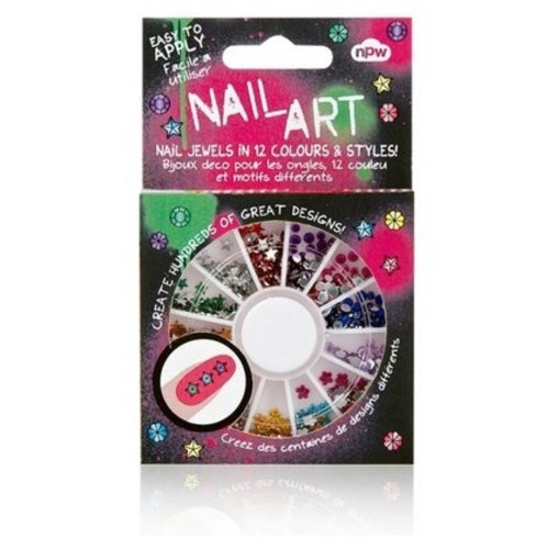 NPW-USA 500 Piece Nail Art Bling Gem Wheel, Jewels (Halloween Pedicure Art)