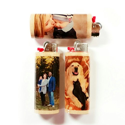 Custom Personalized Photo Image Lighter Case Holder Sleeve Cover Fits Bic Lighters