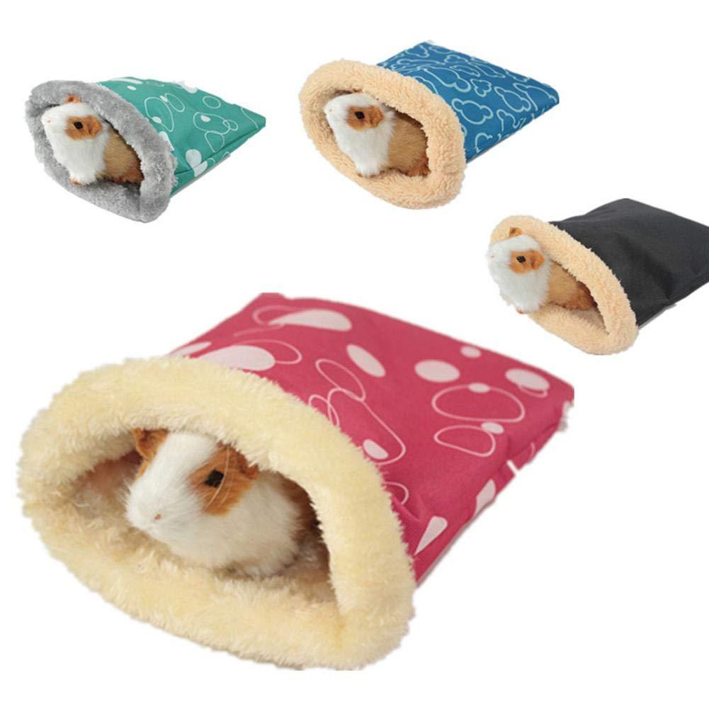 True-Ying roditori Winter Choice Small Animal Sacco a Pelo della Invernale Caldo e Morbido Letto casa Nido Gabbia per criceti Guinea Pig Hedgehog Rat cincillà (Colore Casuale) Pet Sacco a Pelo