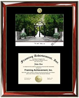 university of georgia uga lithograph matted diploma frame choice of college major gold seal insignia