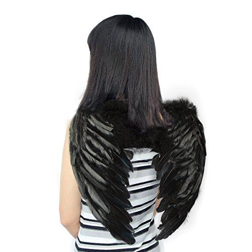 Yuda Feather Wings Kids Fairy Fancy Dress Costume Halloween Christmas Angel Wings (Angel Fancy Dress Children)