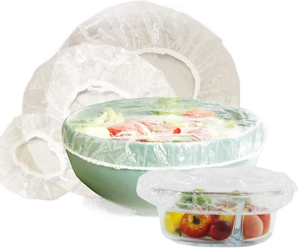 HarrierWing 120PCS Reusable Elastic Bowl Cover, Plastic Food Plate Cover for Fruits Leftovers Outdoor Picnic,4 Sizes