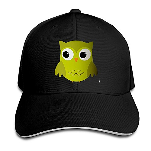 Owlet Baby Costume (LaLago Cute Green Owl Fashion Running Sandwich Hat Black)