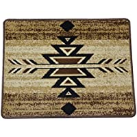 Dean Santa Fe Beige Southwestern Lodge Cabin Carpet Rug Runner Mat, Size: Approximately 31 x 24