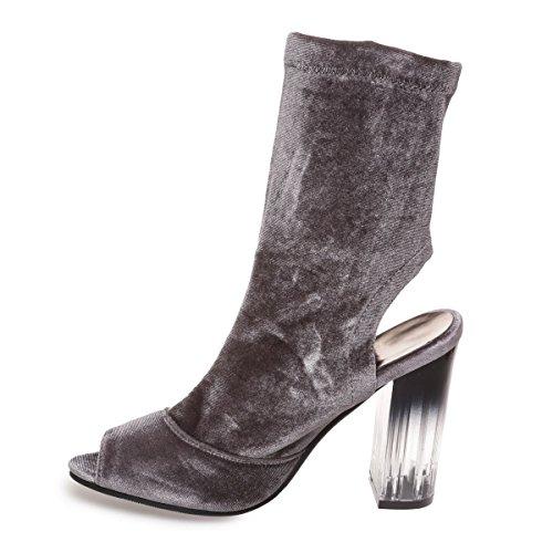 Material Mujer Sintético Botas Modeuse gris La de H7ntzaWWq