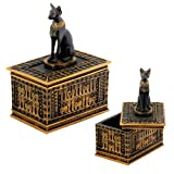 Sale - Egyptian Bastet Bast Cat Jewelry Trinket Box - Ships Immediatly !!