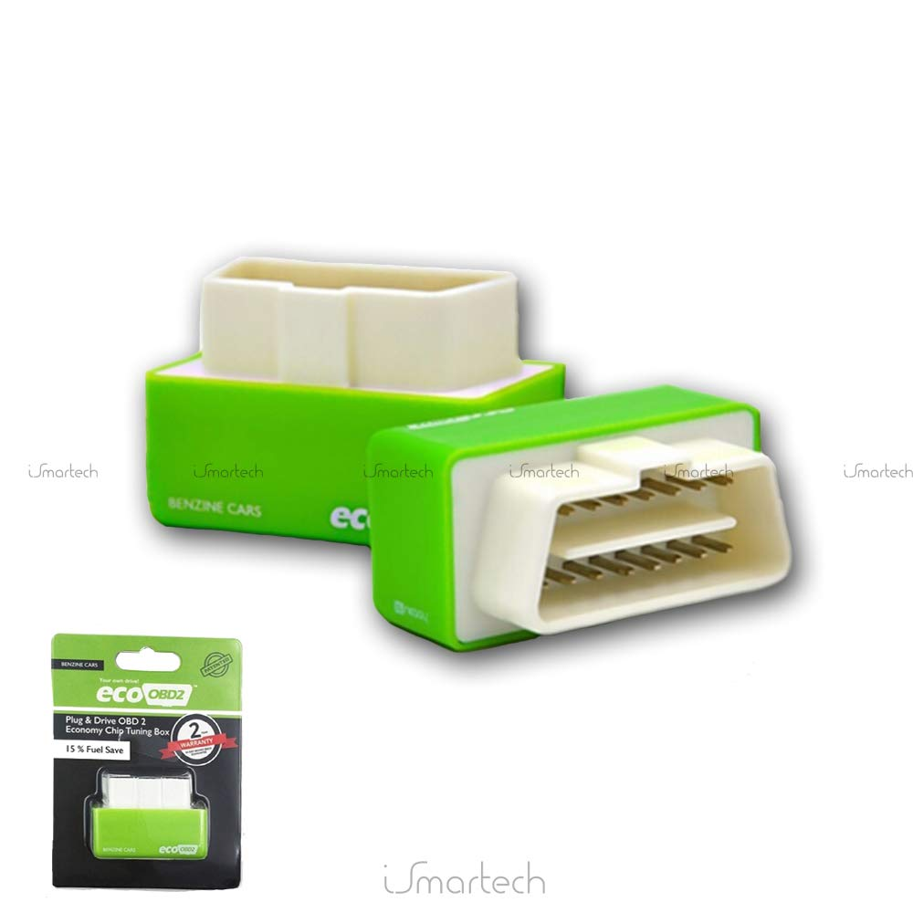 KingNew Plug and Drive Nitroobd2performances Chip Tuning Box pour voitures à essence (Green-eco)
