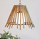 HQLCX Chandelier Single Head Small Chandelier Chandelier Bamboo Farmhouse Restaurant Bar