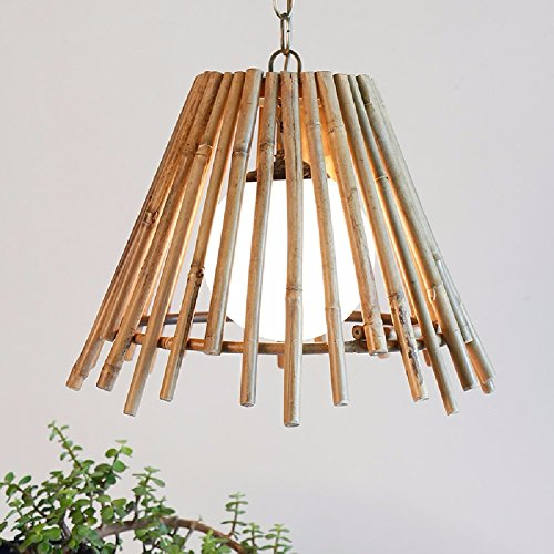 HQLCX Chandelier Single Head Small Chandelier Chandelier Bamboo Farmhouse Restaurant Bar by HQLCX-Chandeliers