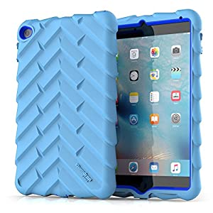 Gumdrop Cases Droptech for Apple iPad Mini 4 (Late 2015) A1538 A1550 Rugged Tablet Case Shock Absorbing Cover, Light Blue / Royal Blue