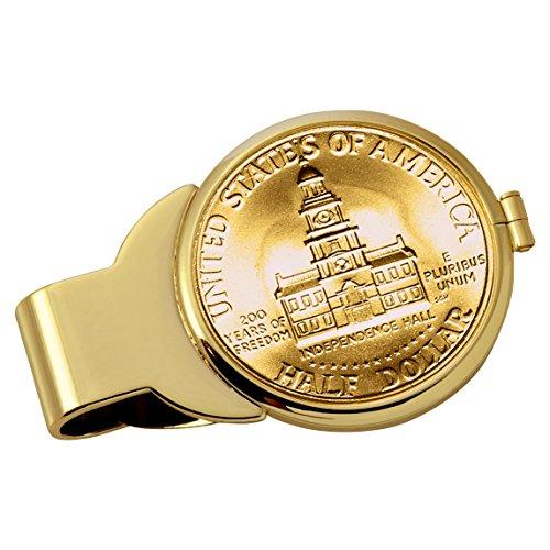 Smithsonian Institution Gold-Layered JFK Bicentennial Half Dollar Goldtone Coin Money (Gold Tone Museum)