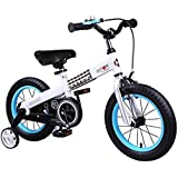 RoyalBaby Button Kids' bicycle with Training Wheels Perfect Gift for Kids. 12 Inch, 14 Inch, 16 Inch, boy's bike, girl's bike
