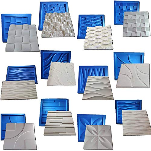 Digital Art Rio 12 plastic with rubber sheets molds for plaster 3d walls