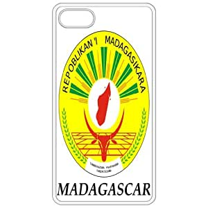 Madagascar - Coat Of Arms Flag Emblem White Apple Iphone 5 Cell Phone Case - Cover