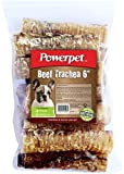 Powerpet: Beef Trachea 6in - Natural Dog Chew - Helps Improve Dental Hygiene - 100% Natural & Highly Digestible - Protein with Low Fat - Beef Jerky Dog Treat - Made from Beef Esophagus