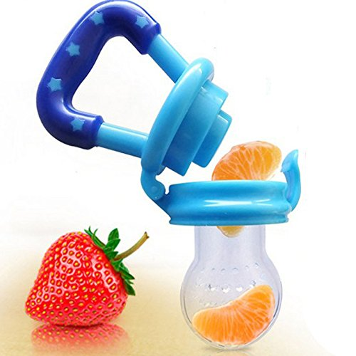(4Pcs New Arrival Baby Safe Pacifier Holder Fresh Food Milk Nibbler Feeder Bottles for Kids - Random Colors (Size)