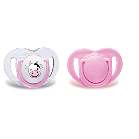 Mama JOO 2 x Silicona orthodontie Chupete, color rosa rosa ...