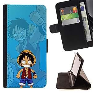 KingStore / Leather Etui en cuir / Apple Iphone 5 / 5S / 1 pieza