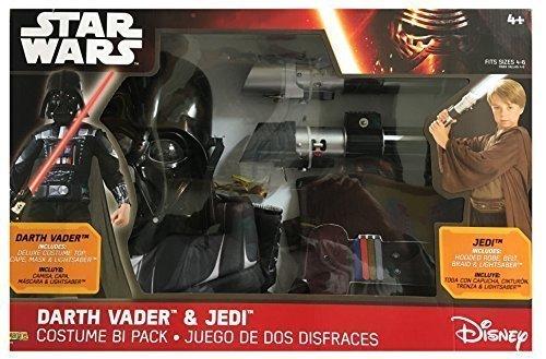 Quick Easy Star Wars Costumes (Star Wars Darth Vader & Jedi Costume Bi Pack)