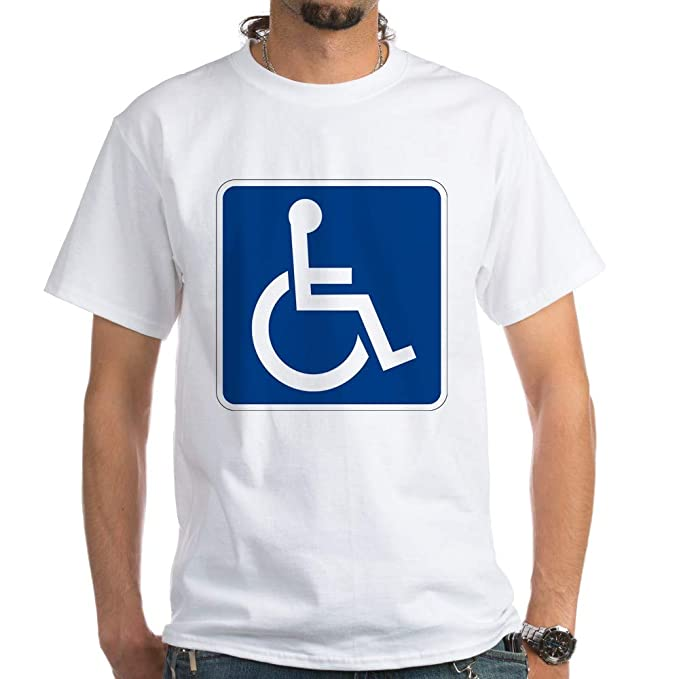 45f32a3644 Image Unavailable. Image not available for. Color: CafePress Handicap Sign T  Shirt ...
