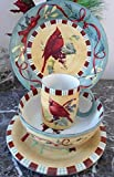 Lenox Winter Greetings Everyday Cardinal 4 Pcs Set - Dinner, Salad, Mug, Bowl