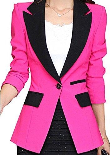 Iumer Women long version of slim Suit Coat Blazer With Sh...