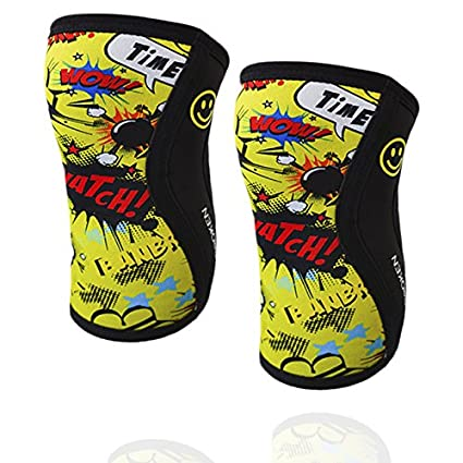 ginocchiere crossfit uomo  Ginocchiere BANBROKEN YELLOW FUN - 5 mm Knee Sleeves - CrossFit ...