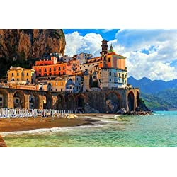 Amalfi Coast Positano - Art Print Poster,Wall Decor,Home Decor(36x24 inches)