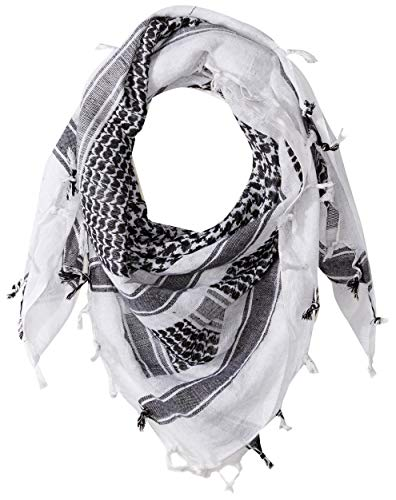 Red Rock Outdoor Gear Shemagh Head Wrap, One Size, White/Black