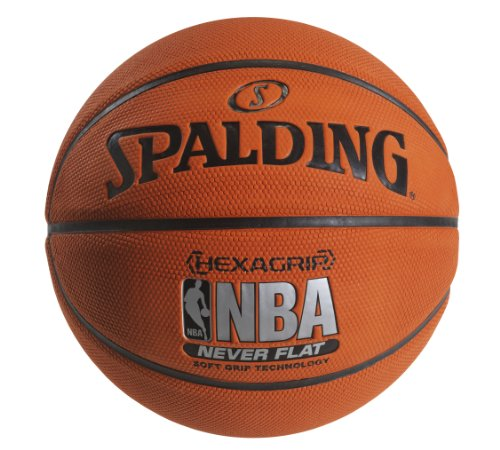 Spalding NeverFlat Soft Grip Indoor/Outdoor Basketball, 29.5-Inch
