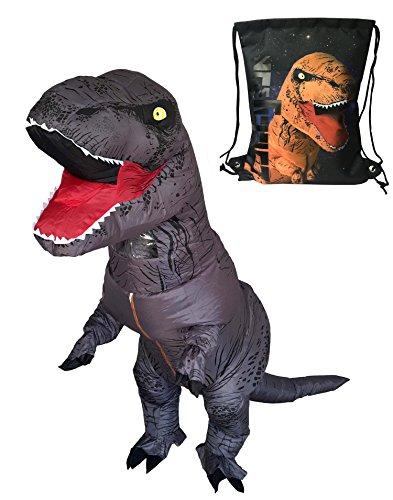 Luckysun Inflatable T-Rex Dinosaur Costume (Grey) - Inflatable Dinosaur Costumes For Adults