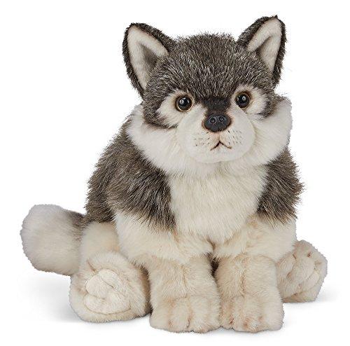 (Bearington Nanook Plush Stuffed Animal Gray Wolf, 13