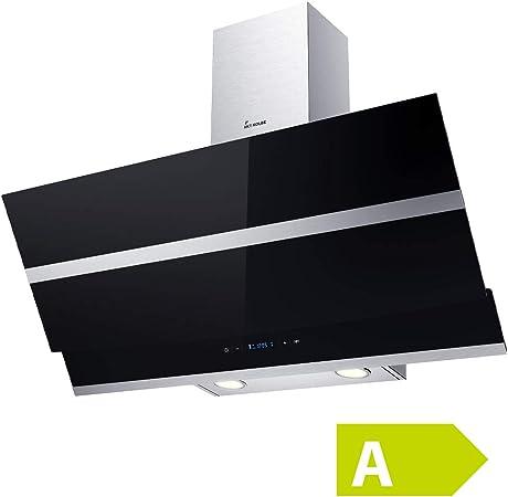Cappa Aspirante Cucina 90 cm nero Design Illuminazione a LED KKT KOLBE