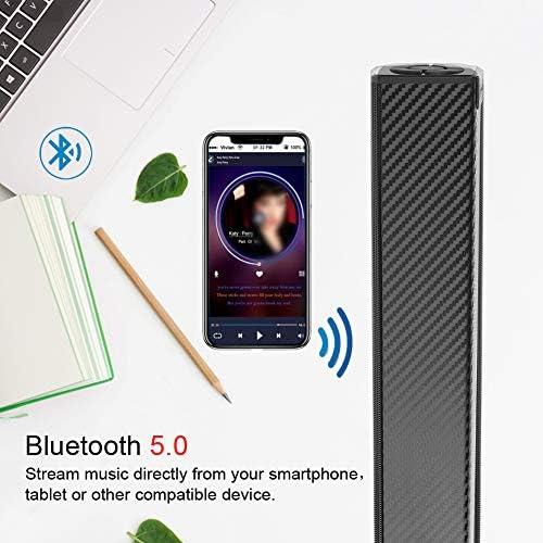 Bluetooth Speaker, Bluetooth 5.0 Sound Bar, Wireless Sound Bar, Stereo USB Powered 17-Inch Soundbar for PC Tablets Desktop Cellphone Computer[RCA, AUX](Black) 51kKo1YhNPL